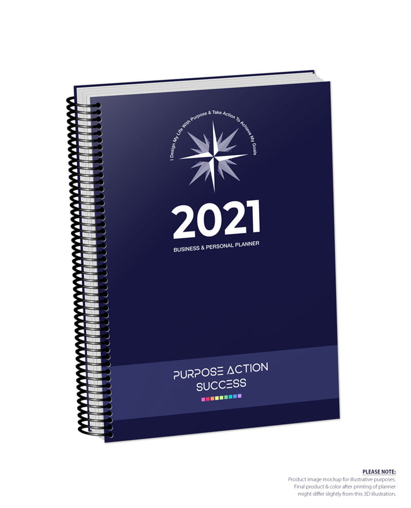2021 MBS Business & Personal Planner - MBS Darkest Navy Blue Color