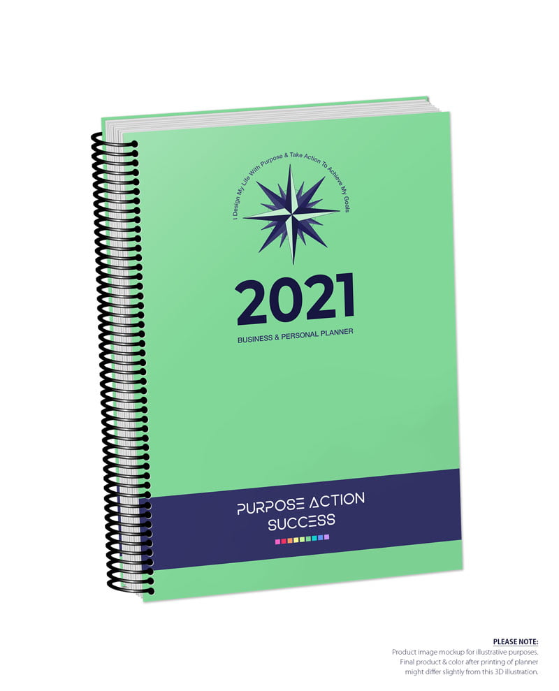 2021 MBS Business & Personal Planner - MBS Medium Green Color