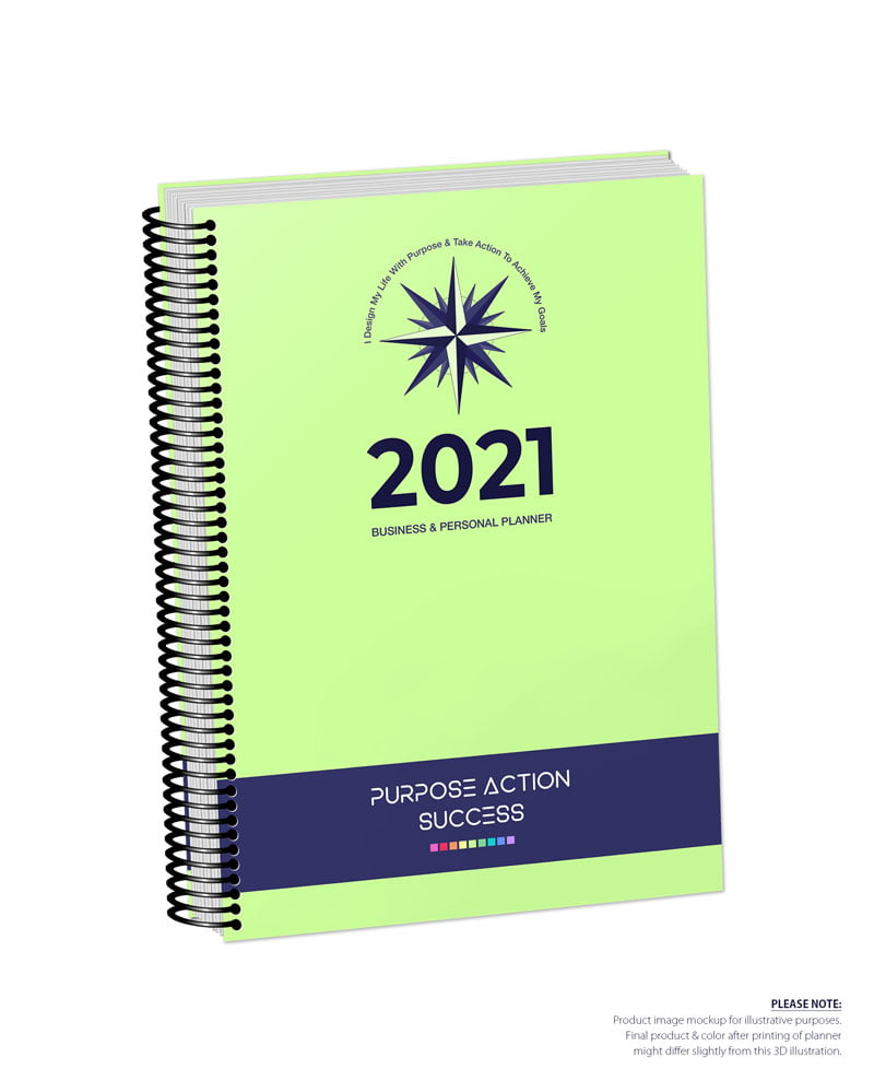 2021 MBS Business & Personal Planner - MBS Light Green Color