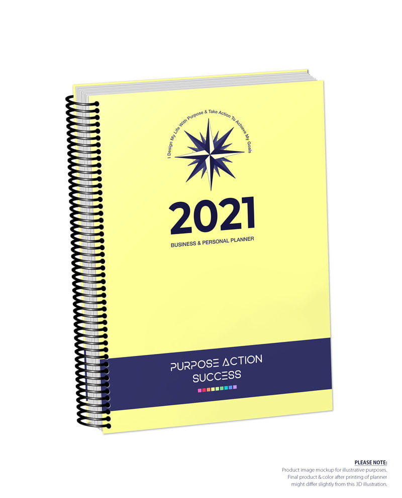 2021 MBS Business & Personal Planner - MBS Yellow Color