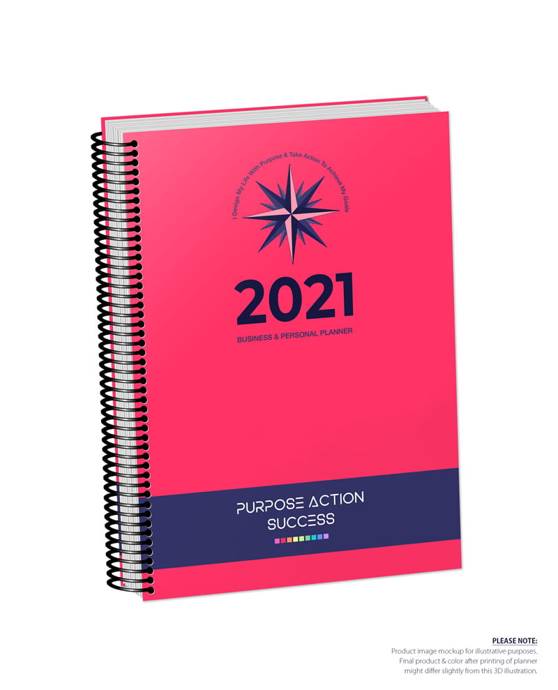 2021 MBS Business & Personal Planner - MBS Scarlet Color