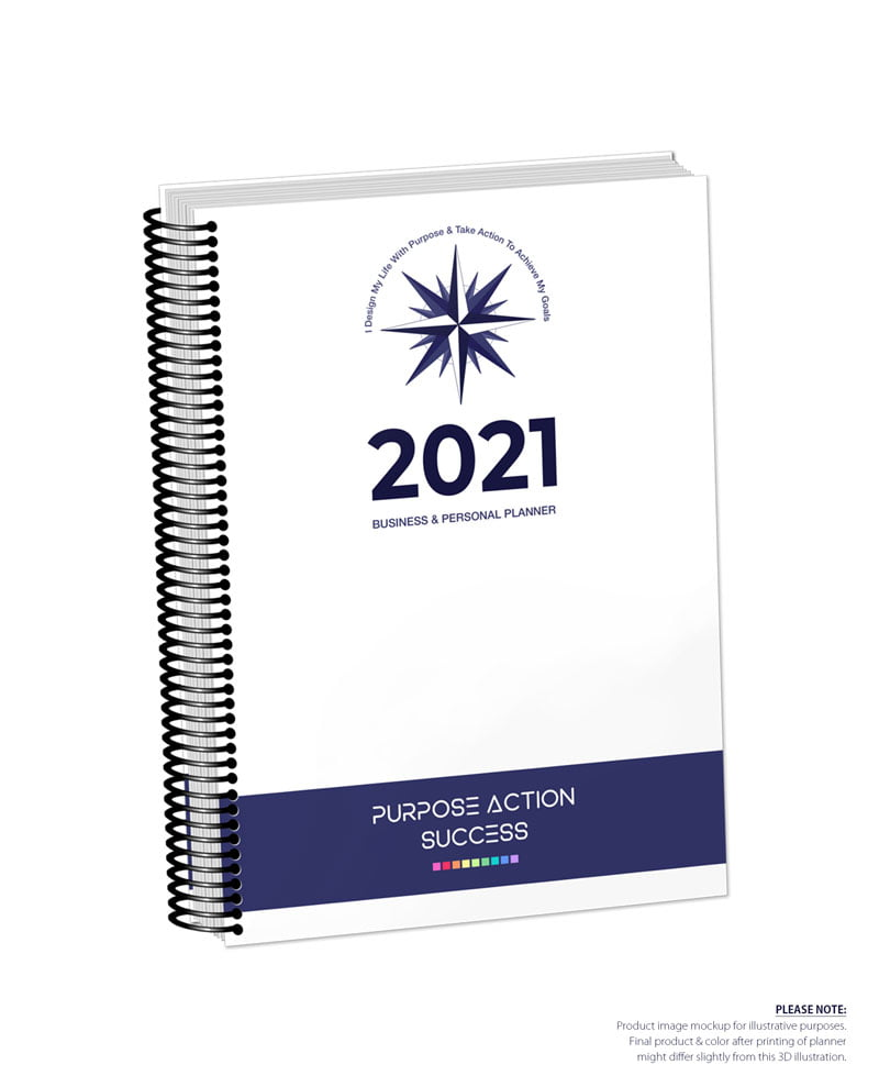 2021 MBS Business & Personal Planner - MBS White Color