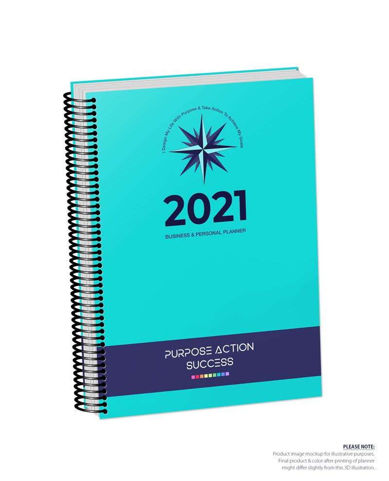 2021 MBS Business & Personal Planner - MBS Turquoise Color