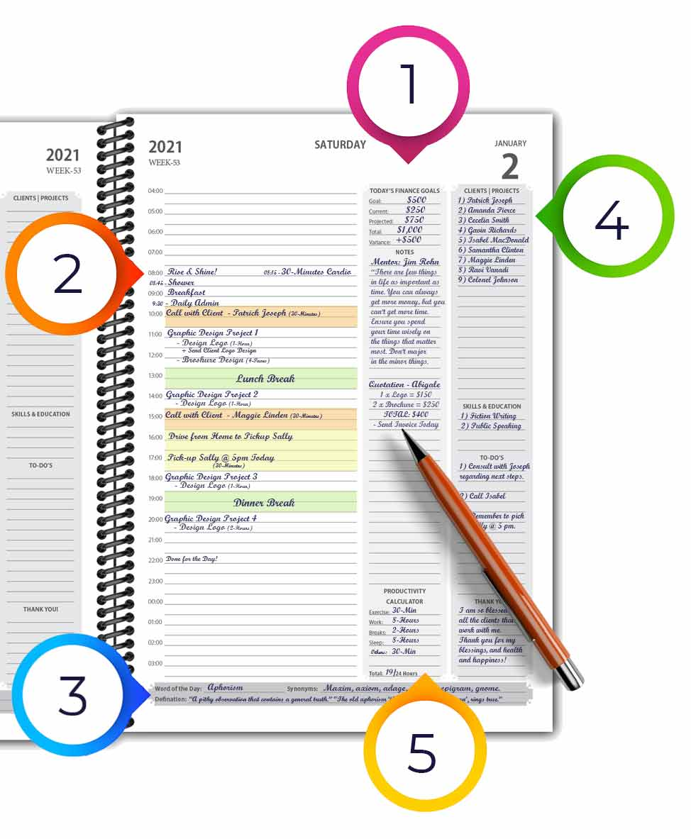 Daily-Planner-Page-With-Writing