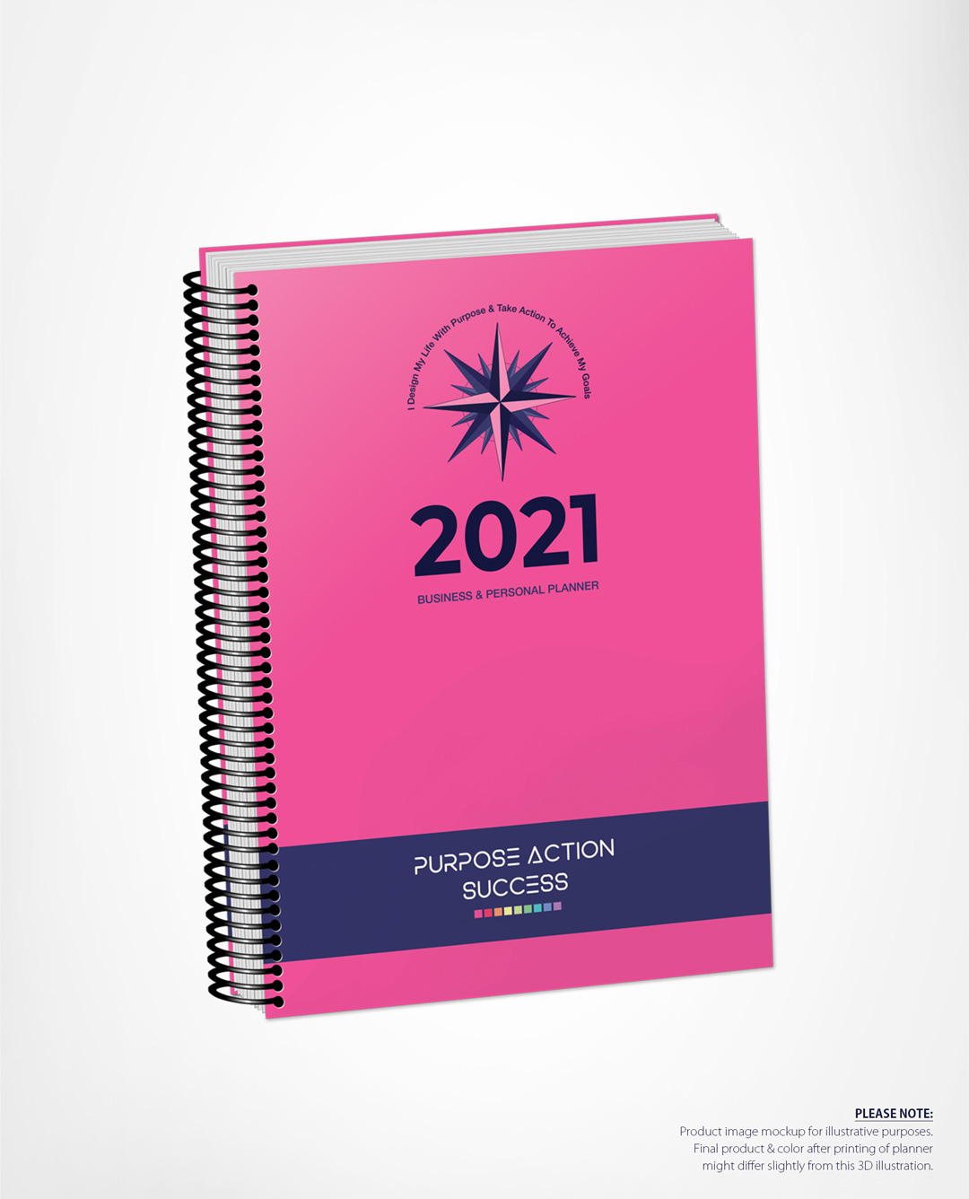 2021 MBS Business & Personal Planner - MBS Hot Pink Color